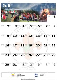 Kalender Juli
